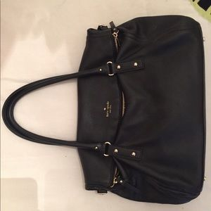 Kate Spade Black Leather Purse with Fold Over
